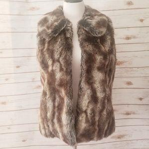 Rachel Zoe Faux Fur Vest Size: Small
